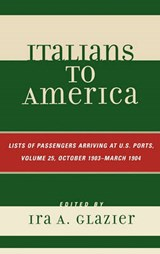 Italians to America, Volume |  |