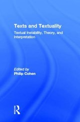 Texts and Textuality | Philip Cohen |