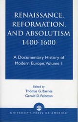 Renaissance, Reformation, and Absolutism 1400-1600 | Barnes |