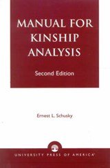 Manual for Kinship Analysis | Ernest L. Schusky |