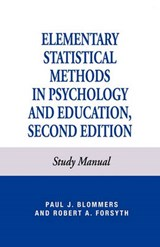 Elementary Statistical Methods in Psychology | Paul J. Blommers |