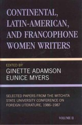Continental, Latin-American and Francophone Women Writers | Ginette Adamson |