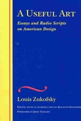 A Useful Art | Louis Zukofsky |