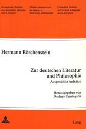 Zur deutschen Literatur und Philosophie. Ausgewählte Aufsätze