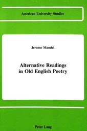 Alternative Readings in Old English Poetry