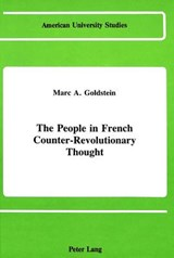 The People in French Counter-Revolutionary Thought | Marc A. Goldstein |
