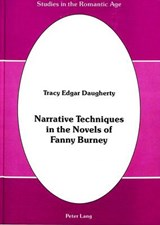 Narrative Techniques in the Novels of Fanny Burney | Tracy Edgar Daugherty |
