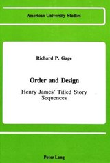 Order and Design | Richard P. Gage |