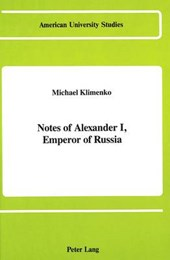 Notes of Alexander I, Emperor of Russia
