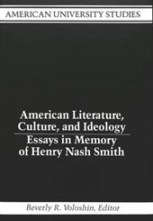 American Literature, Culture, and Ideology