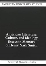 American Literature, Culture, and Ideology |  |
