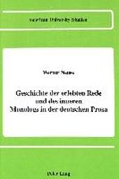 Geschichte der erlebten Rede und des inneren Monologs in der deutschen Prosa
