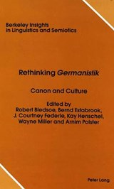 Rethinking «Germanistik» |  |