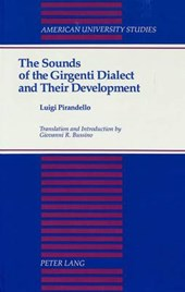 The Sounds of the Girgenti Dialect and Their Development