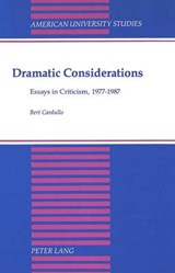 Dramatic Considerations | Bert Cardullo |