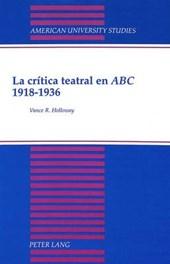 La crítica teatral en ABC 1918-1936