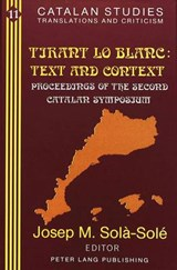 «Tirant lo Blanc:»- Text and Context |  |