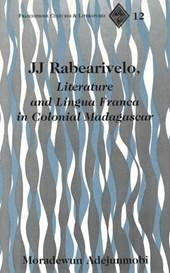 JJ Rabearivelo, Literature and Lingua Franca in Colonial Madagascar