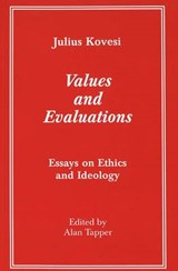 Values and Evaluations | Julius Kovesi |