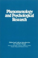 Phenomenology and Psychological Research | GIORGI,  Amedeo |
