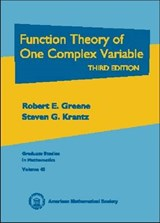 Function Theory of One Complex Variable | Robert E Greene |