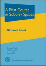 A First Course in Sobolev Spaces | Giovanni Leoni |