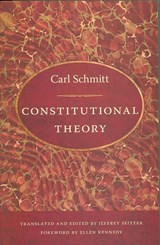 Constitutional Theory | Carl Schmitt |