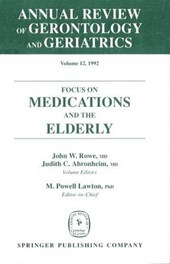Annual Review of Gerontology and Geriatrics, Volume 12, 1992