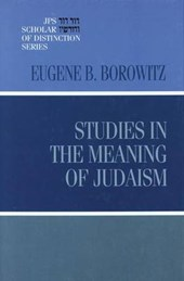 Studies in the Meaning of Judaism