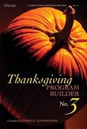 Thanksgiving Program Builder No.