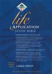 KJV Life Application Study Bible Large Print, Burgundy