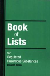 Book of Lists for Regulated Hazardous Substances