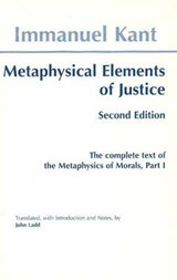 Metaphysical elements of Justice | Kant |