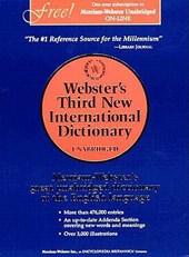 Webster's Third New International Dictionary, Unabridged | Philip Babcock Gove & G. Company & C. Merriam |