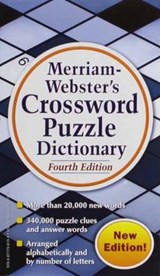 Merriam Webster's Crossword Puzzle Dictionary | Merriam-Webster |