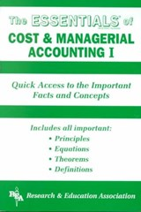 Cost & Managerial Accounting I Essentials | William D. Keller |