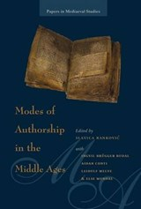 Modes of Authorship in the Middle Ages | auteur onbekend |