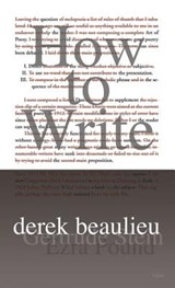 How to Write | Derek Beaulieu |