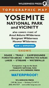 Topographic Yosemite National Park and Vicinity | Wilderness Press |
