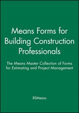 Means Forms for Building Construction Professionals | Rsmeans |