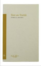 Text on Textile | Isabella Ducrot |