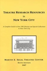 Theatre Research Resources in New York City |  |