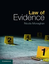 Law of Evidence | Nicola Monaghan |
