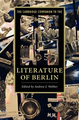 The Cambridge Companion to the Literature of Berlin | Andrew J. Webber |