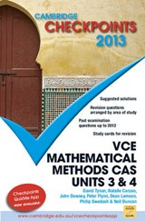 Cambridge Checkpoints Vce Mathematical Methods Cas Units 3 and | Neil Duncan; David Tynan; Natalie Caruso; John Dowsey; Peter Flynn; Dean Lamson; Philip Swedosh |