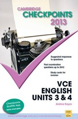 Cambridge Checkpoints Vce English Units 3 and | Andrea Hayes |