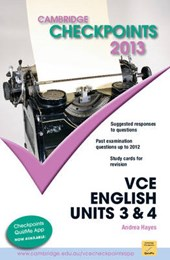 Cambridge Checkpoints Vce English Units 3 and