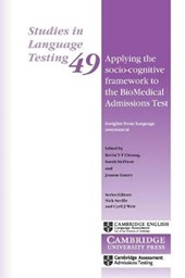 Applying the Socio-cognitive Framework to the Biomedical Admissions Test