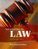 Introduction to Law | Beth Walston-Dunham |