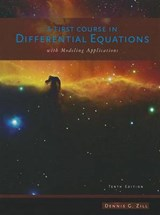A First Course in Differential Equations | Dennis G. Zill |